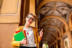 Student in Bologna city Stock Photography