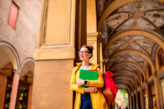 Student in Bologna city Royalty Free Stock Images