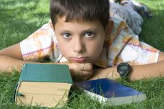 Student with the book stock photos