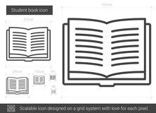 Student book line icon. Stock Photos