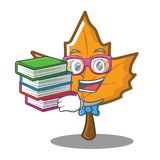 Student with book maple character cartoon style. Vector illustration Royalty Free Stock Photography