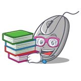 Student with book mouse mascot cartoon style royalty free illustration