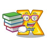 Student with book multiply sign icon isolated on mascot. Vector illustration royalty free illustration