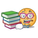 Student with book oat cookie isolated with the cartoon. Vector illustration royalty free illustration