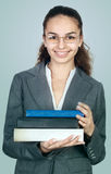 Student with books Stock Photo