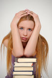 Student with books Royalty Free Stock Photography