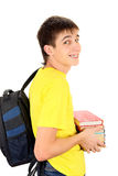 Student with the Books Royalty Free Stock Photography
