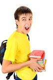 Student with the Books Stock Photo