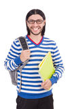 Student with books isolated Stock Photos