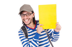 Student with books isolated Royalty Free Stock Images
