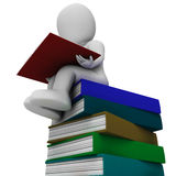 Student And Books Showing Learning Stock Photography