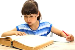 Student with books on white background. September 1. The day of knowledge Royalty Free Stock Image