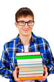 Student with the Books Stock Photos