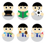 Student Boy. Cartoon Illustration Vector Royalty Free Stock Photos