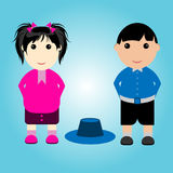 Student Boy and Girl. With Uniform, also use your business Royalty Free Stock Image