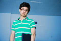 Student boy with laptop Royalty Free Stock Images