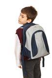 Student boy looking over shoulder Stock Image