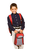 Student: Boy with Lunchbox Royalty Free Stock Image