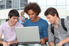 Student boys at university Stock Photography