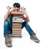 Student and bulb Royalty Free Stock Photography