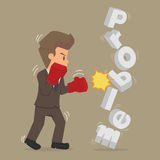 Student businessman to fight against the problem. Vector Stock Photo