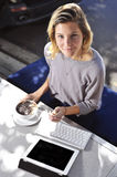 Student at cafe Royalty Free Stock Photo