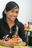 Student at cafeteria Stock Images