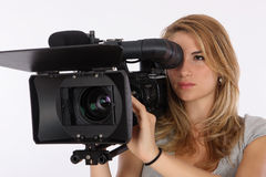 Student Camera Operator Royalty Free Stock Image