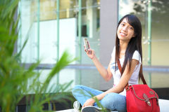 Student at campus Royalty Free Stock Photos