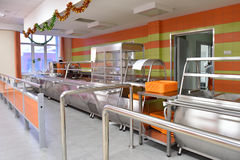 Student canteen Royalty Free Stock Image