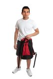 Student carrying backpack Royalty Free Stock Image