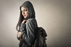 Student carrying a bag Royalty Free Stock Images