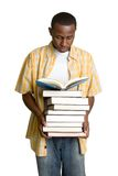 Student Carrying Books Stock Photo