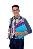 Student carrying books Royalty Free Stock Photography