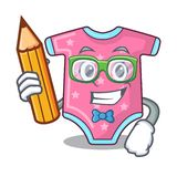 Student cartoon baby clothes on hanger rack vector illustration