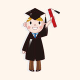 Student cartoon theme elements vector,eps Stock Photo