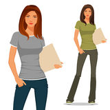 Student in casual clothes Stock Photography