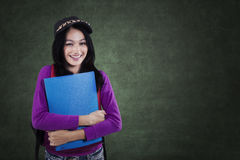 Student with a casual clothes style in class Royalty Free Stock Images