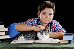Student with cat Stock Image