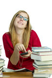 Student on cellphone Royalty Free Stock Photography
