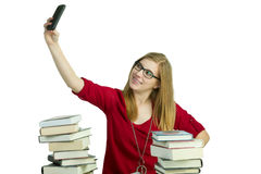Student on cellphone Stock Image