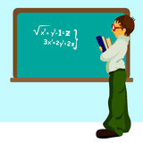Student with chalkboard Royalty Free Stock Photos