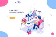 Student Character Study voor Graduatie vector illustratie
