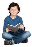 Student child with a book Stock Photography