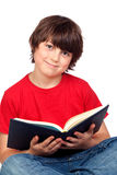 Student child with a book Royalty Free Stock Image