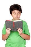 Student child with a book Stock Images