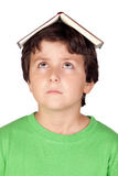 Student child with a book Royalty Free Stock Photo