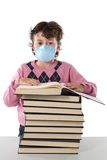 Student child infected with influenza A Stock Photography