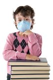 Student child infected with influenza A Stock Photos
