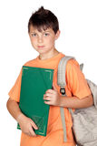 Student child with orange t-shirt Royalty Free Stock Images